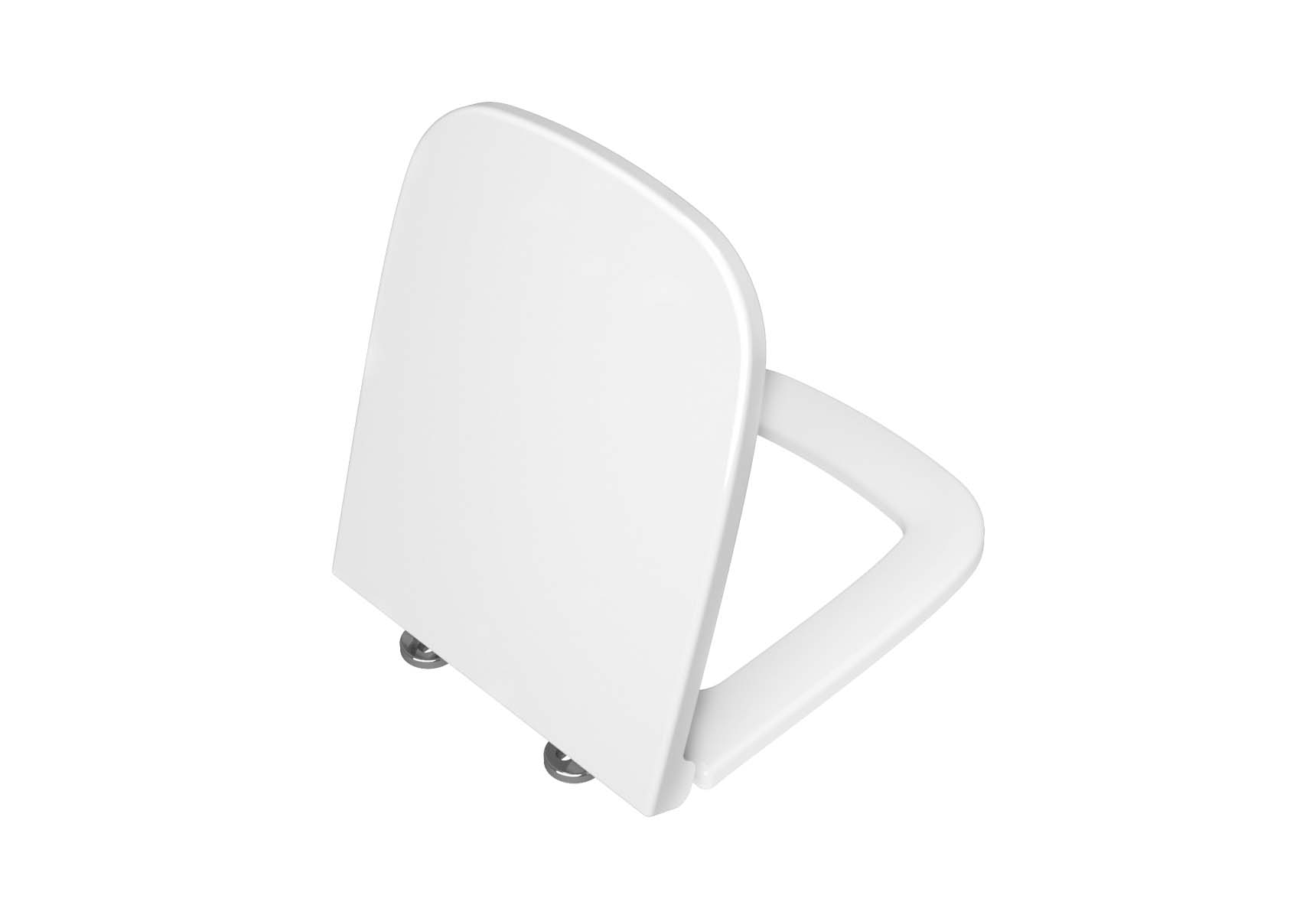 WC Seat, Pp,,Detechable Plastic Hinge, Top Fixing