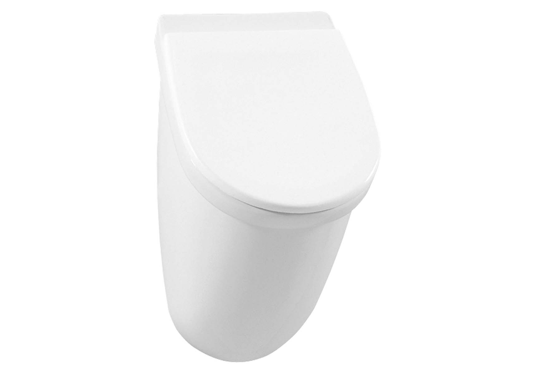 Mona Urinal Lid without Holes, Back Water Inlet, Back Output