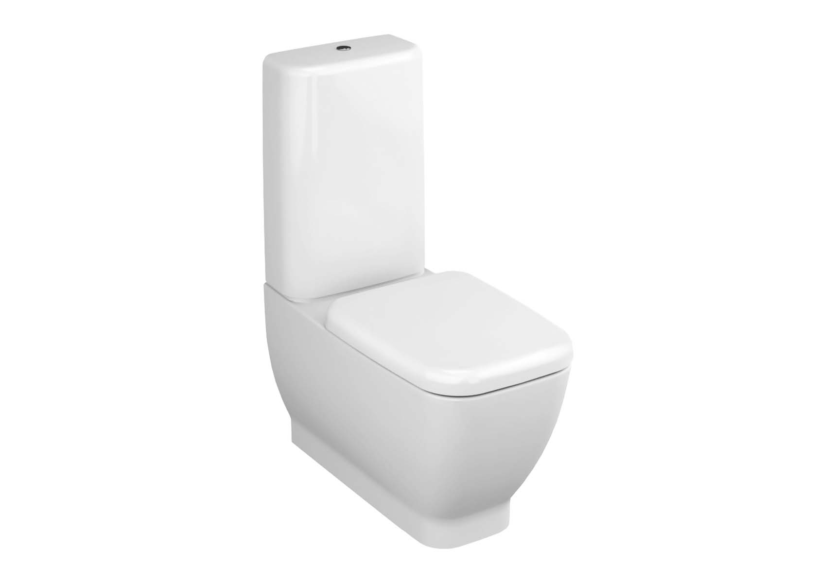 Shift Back-To-Wall Close-Coupled WC Pan