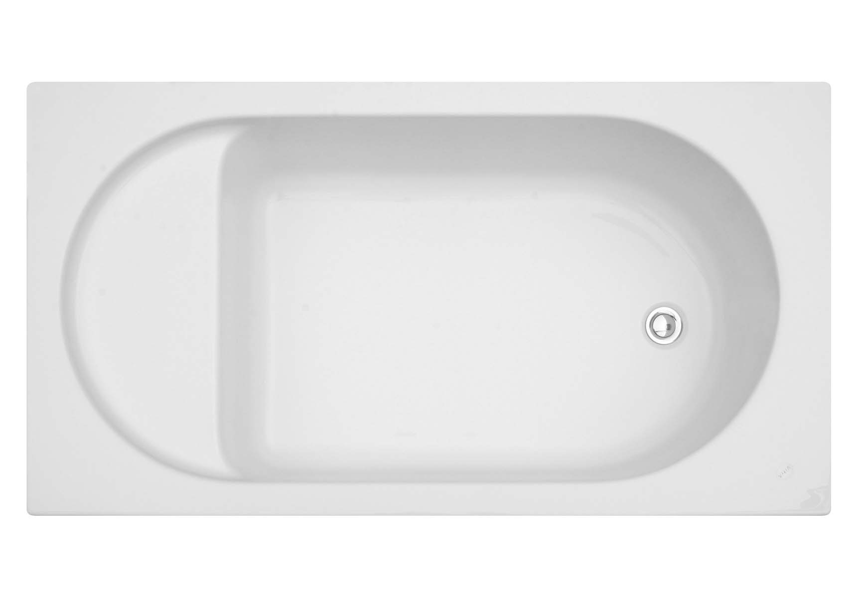 Optima 120x70 cm Rectangular with Seat Bathtub