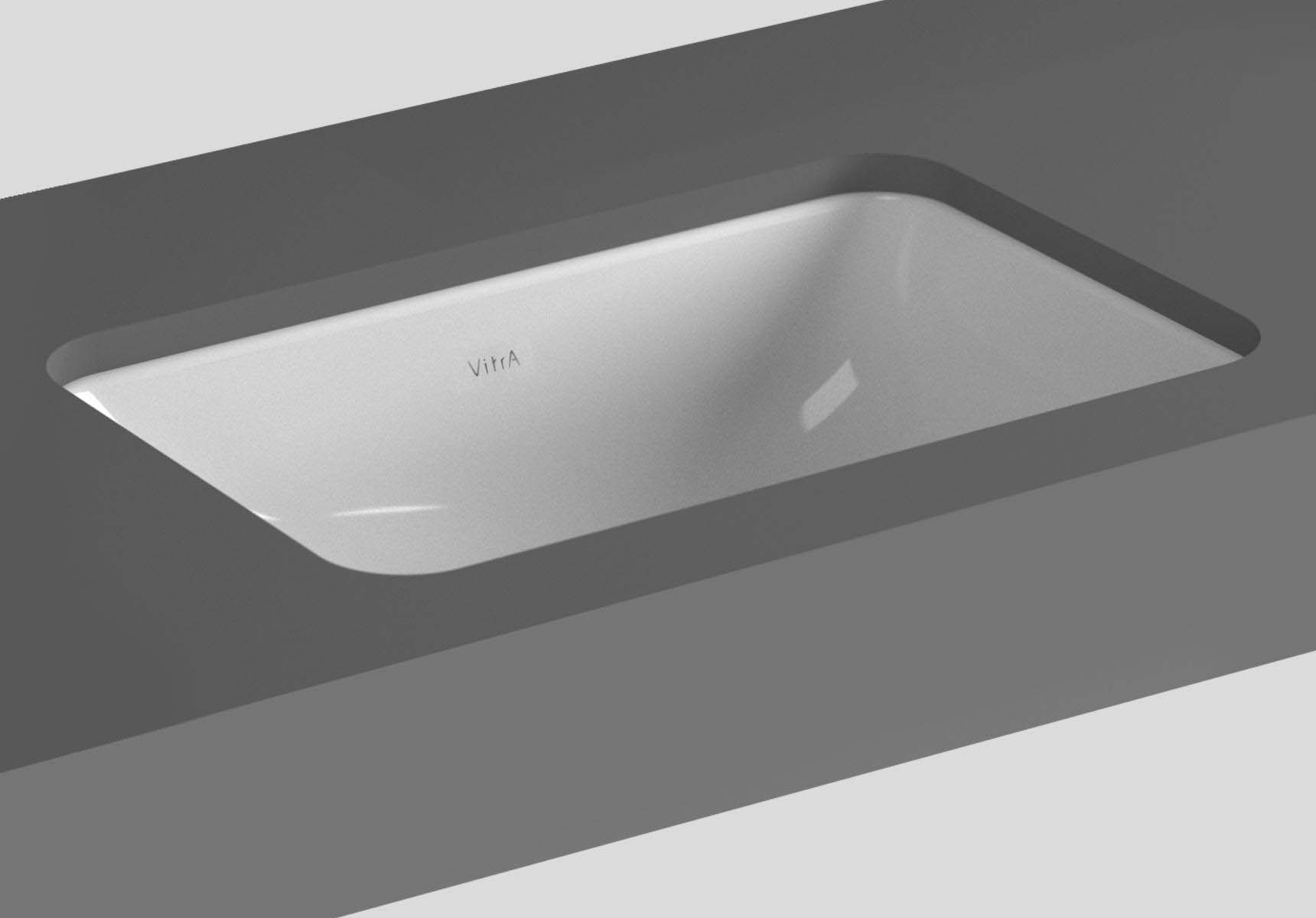 S20 Undercounter Basin, 43cm without Tap Hole, with Side Holes