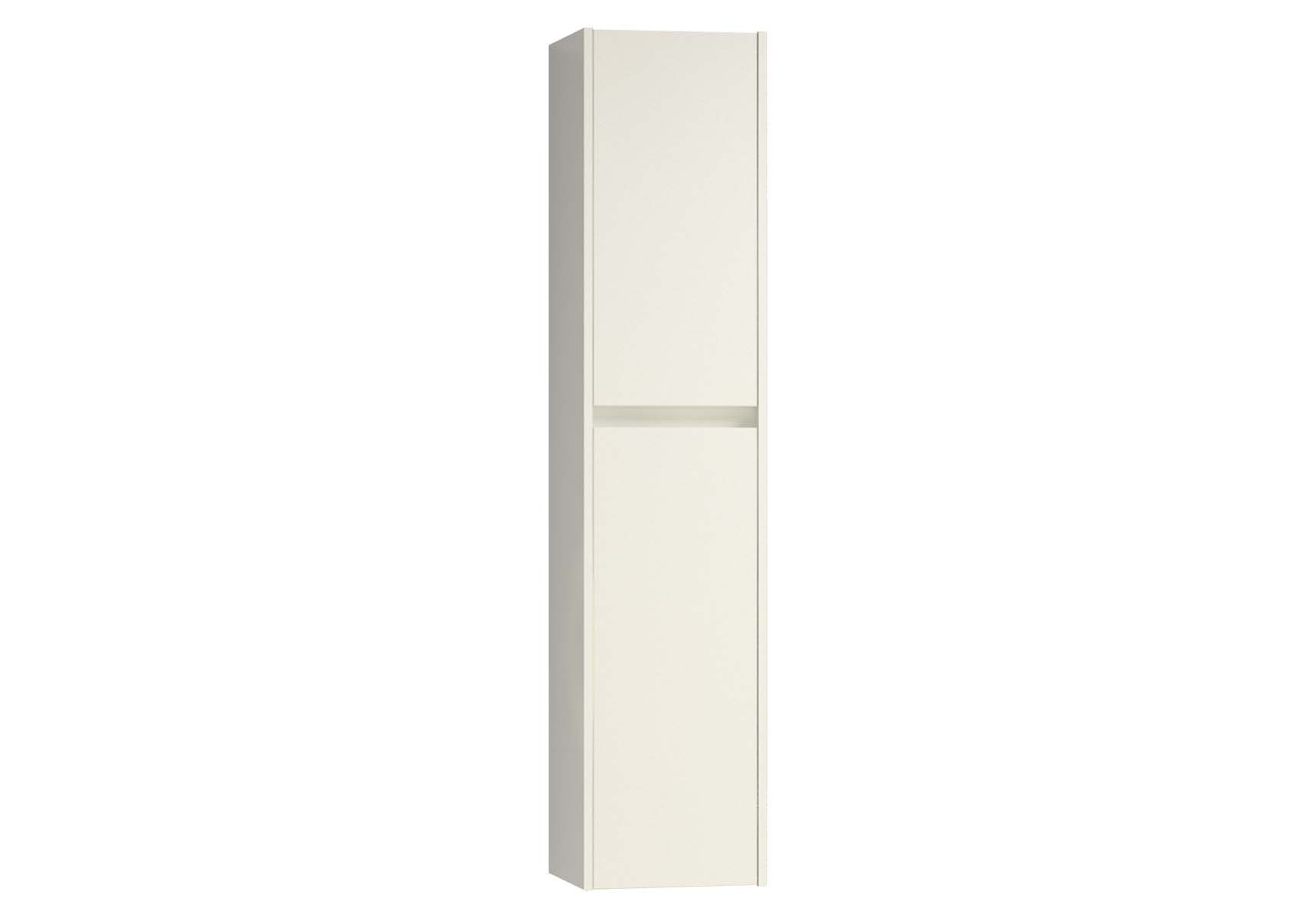 Step Tall Unit, Right, White High Gloss