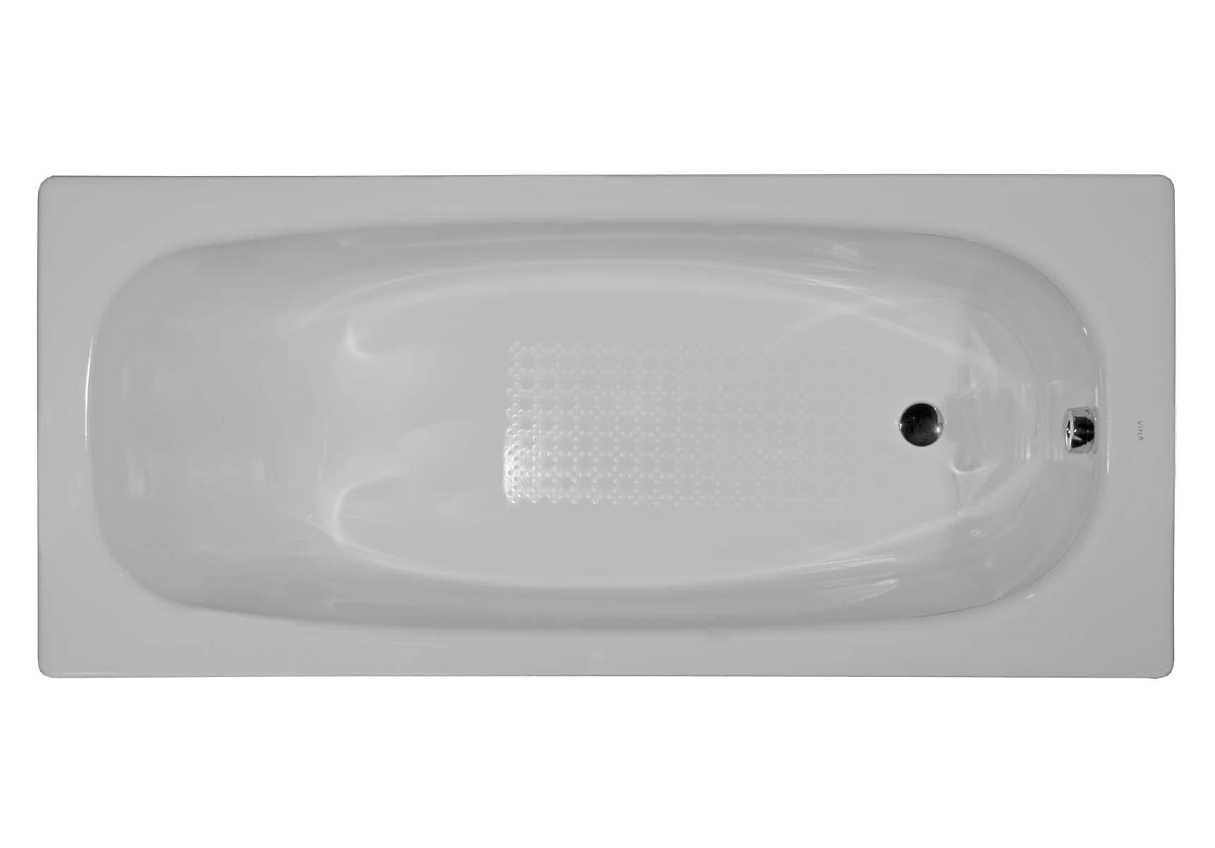 Generic 160x70 cm Steel Bathtub, 3.5 Mm, Sound Proofing Pad, Low Depth