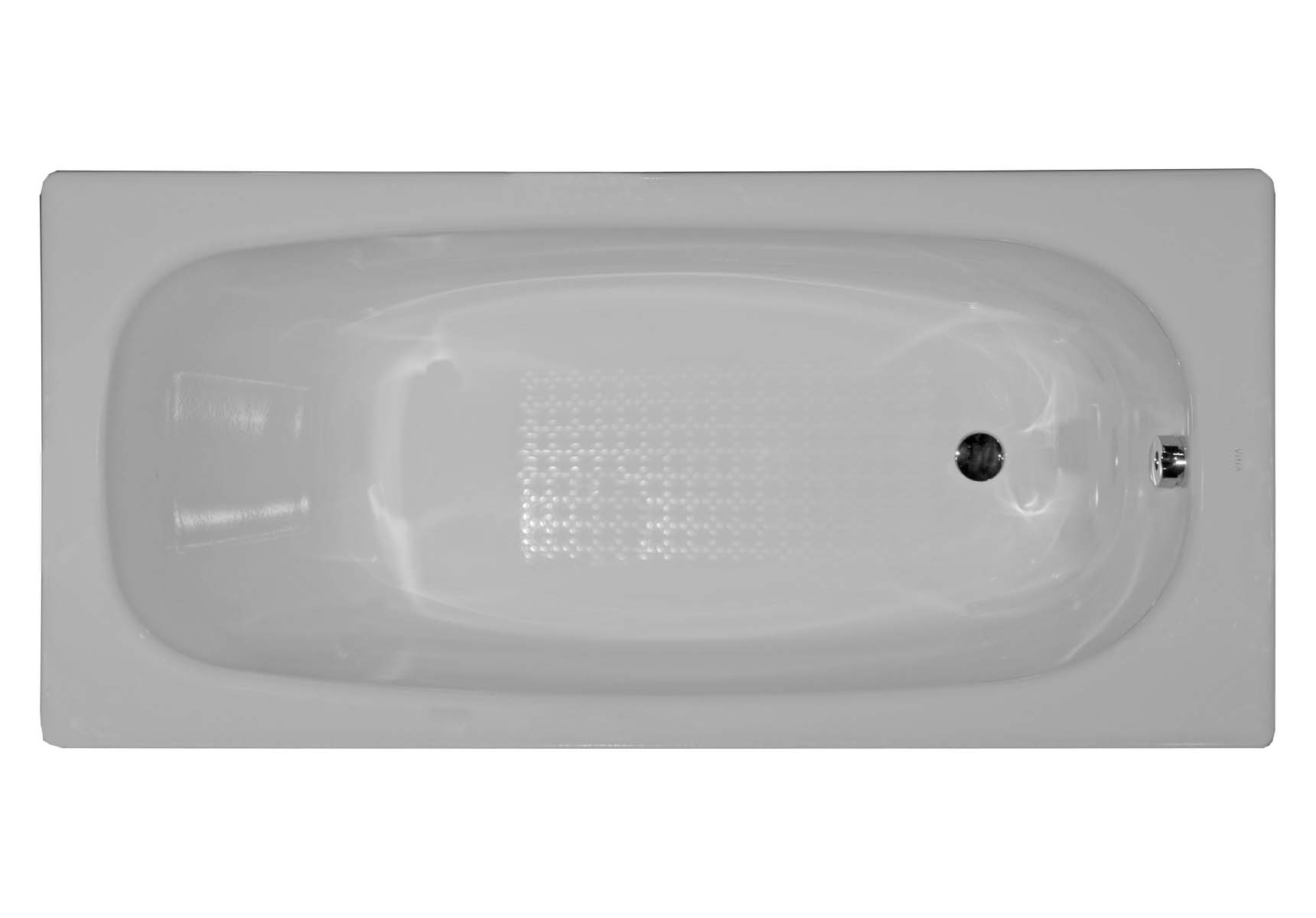 Generic 160x70 cm Steel Bathtub, 2.2 Mm, Normal Depth