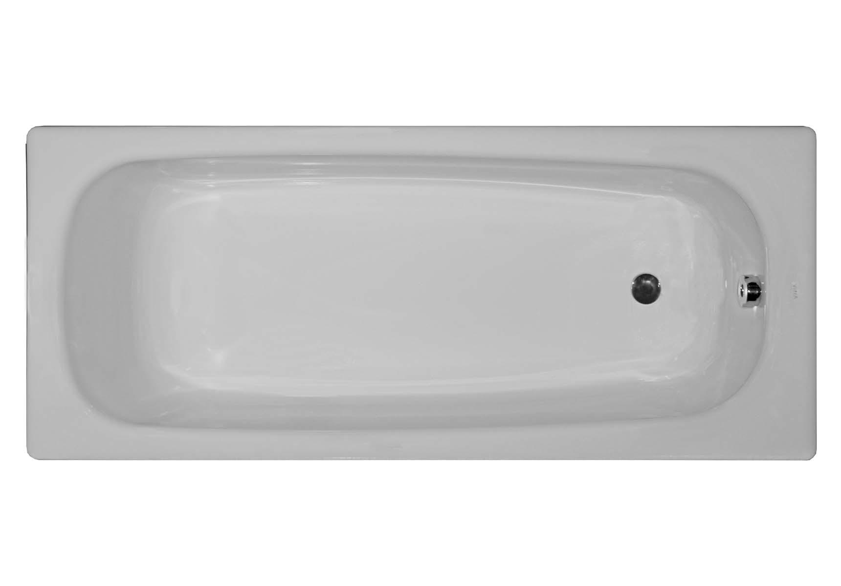 Generic 150x70 cm Steel Bathtub, 2.2 Mm, Low Depth