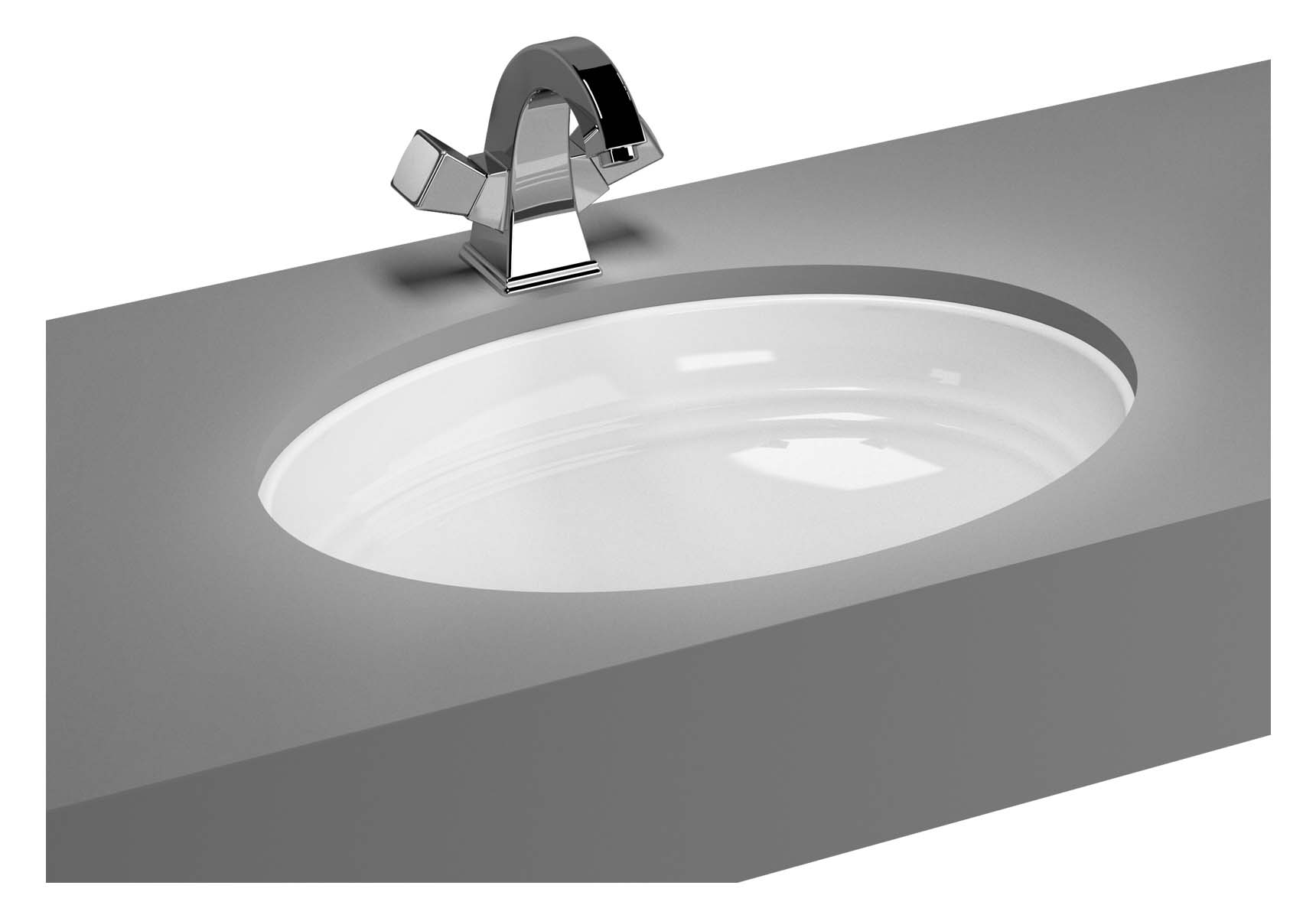 Efes Undercounter Basin without Tap Hole, with Side Holes