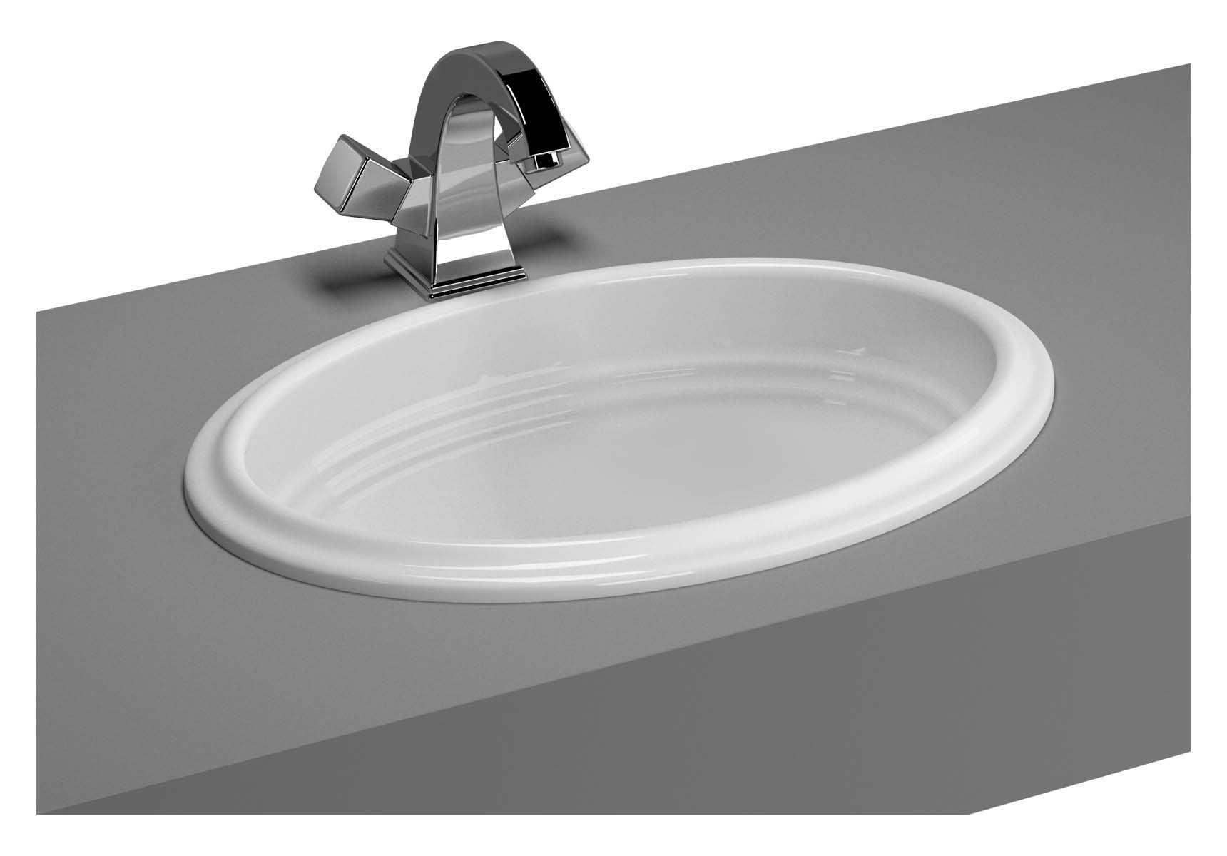 Efes Countertop Basin without Tap Hole, with Side Holes