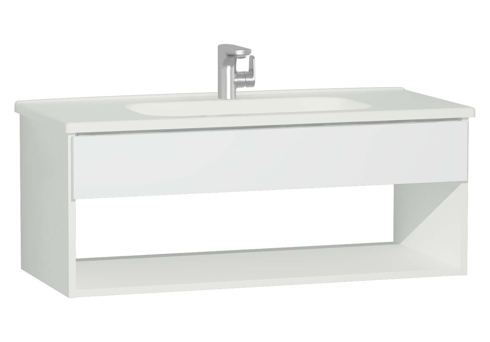 D-Light Hotel Unit, 110 cm, Matte White