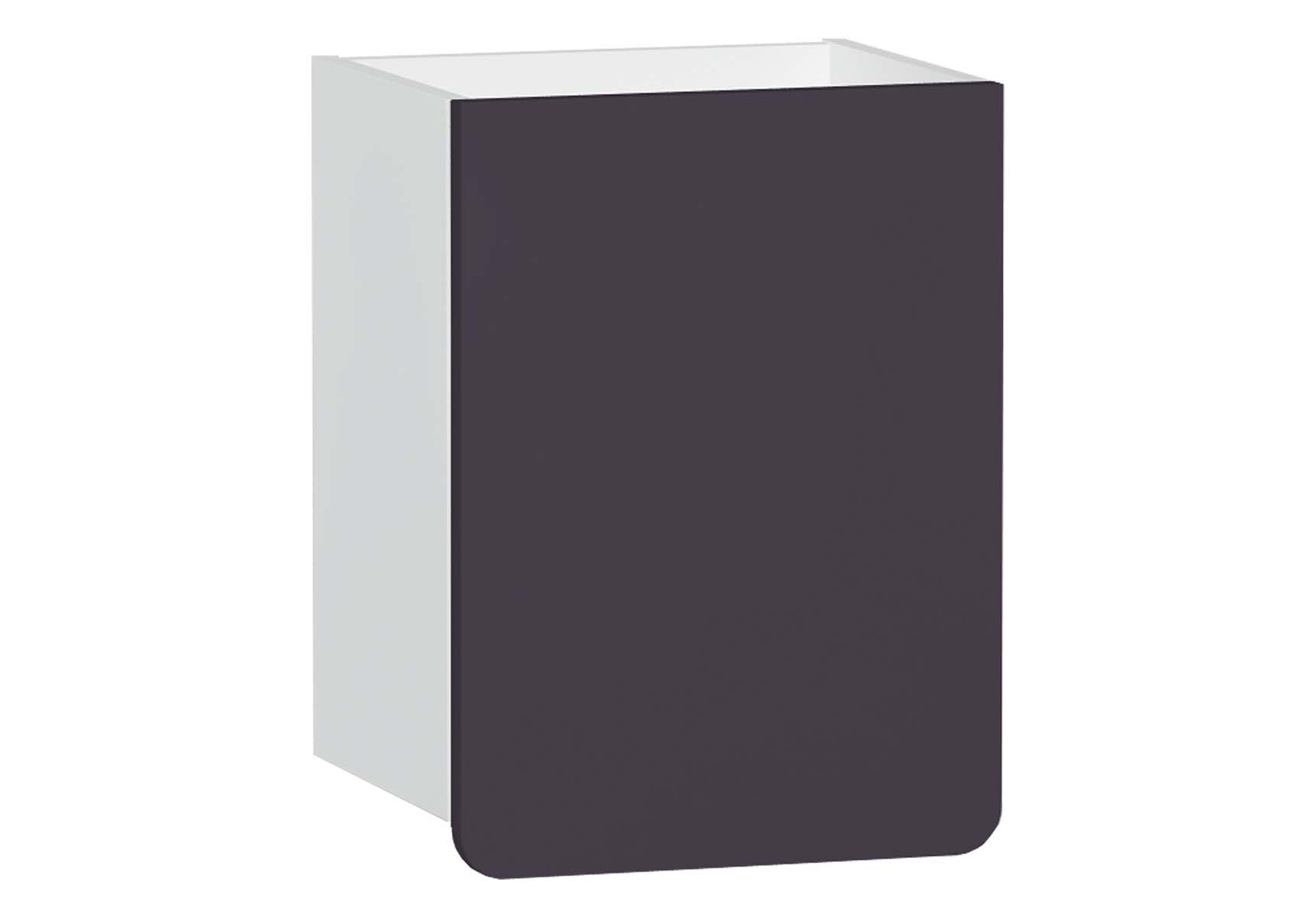 D-Light Side Unit, 40 cm, Matte White & Purple, Left