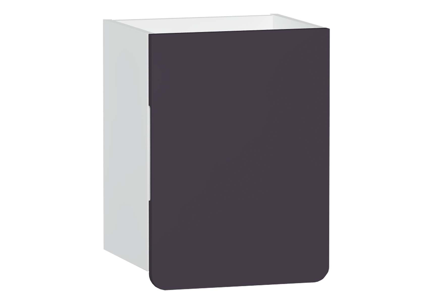 D-Light Side Unit, 40 cm, Matte White & Purple, Right