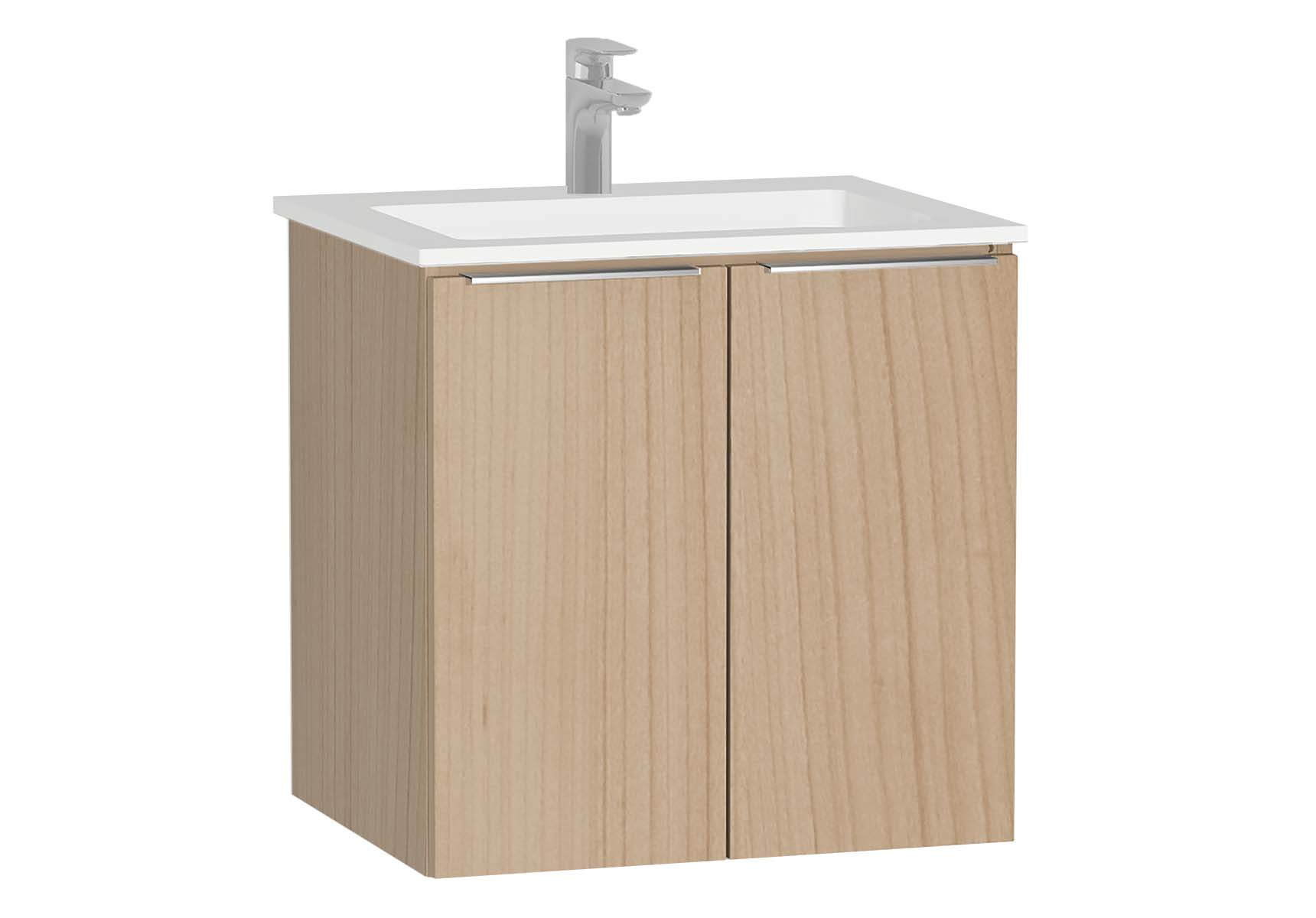 Central Washbasin Unit with doors, 60 cm, Golden Cherry, Infinit Washbasin