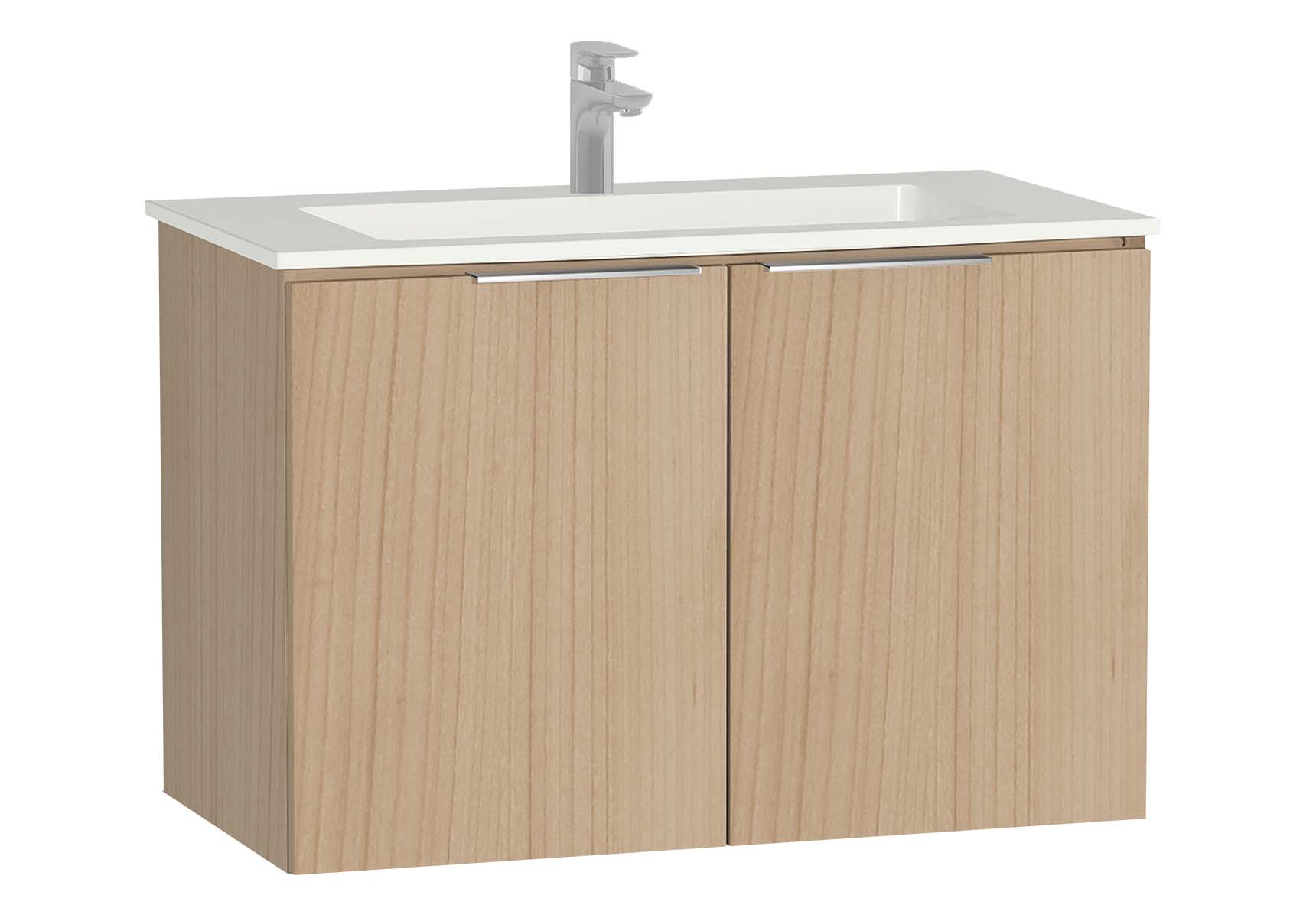 Central Washbasin Unit with doors, 90 cm, Golden Cherry, Infinit Washbasin