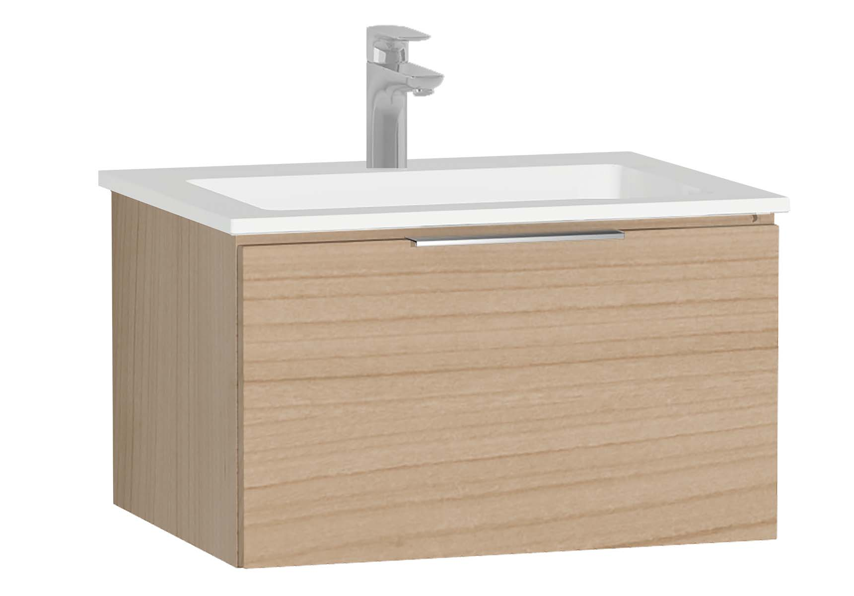 Central Washbasin Unit with 1 drawer, 60 cm, Golden Cherry, Infinit Washbasin