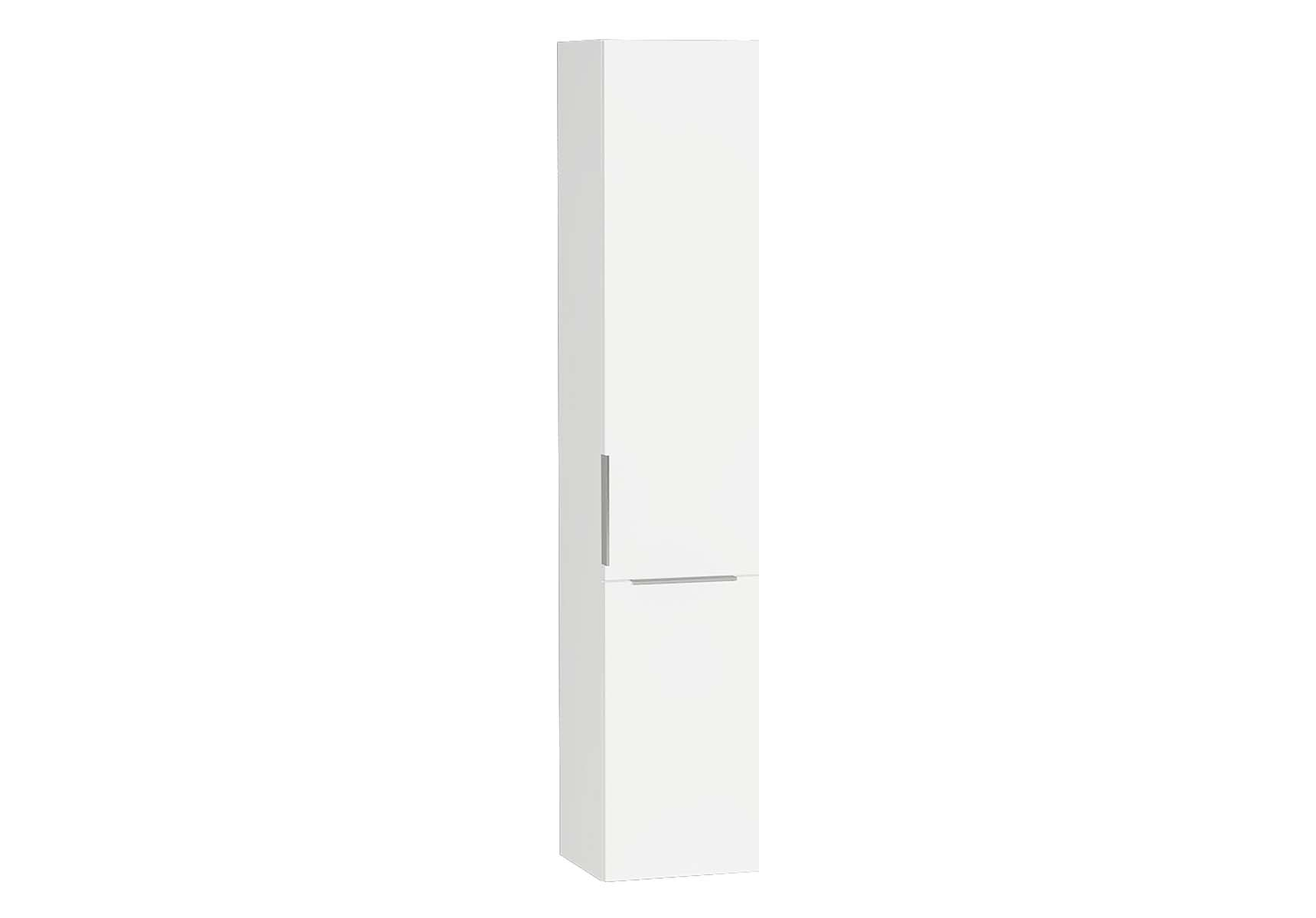 Central Tall Unit, with basket, 35 cm, White High Gloss, Right