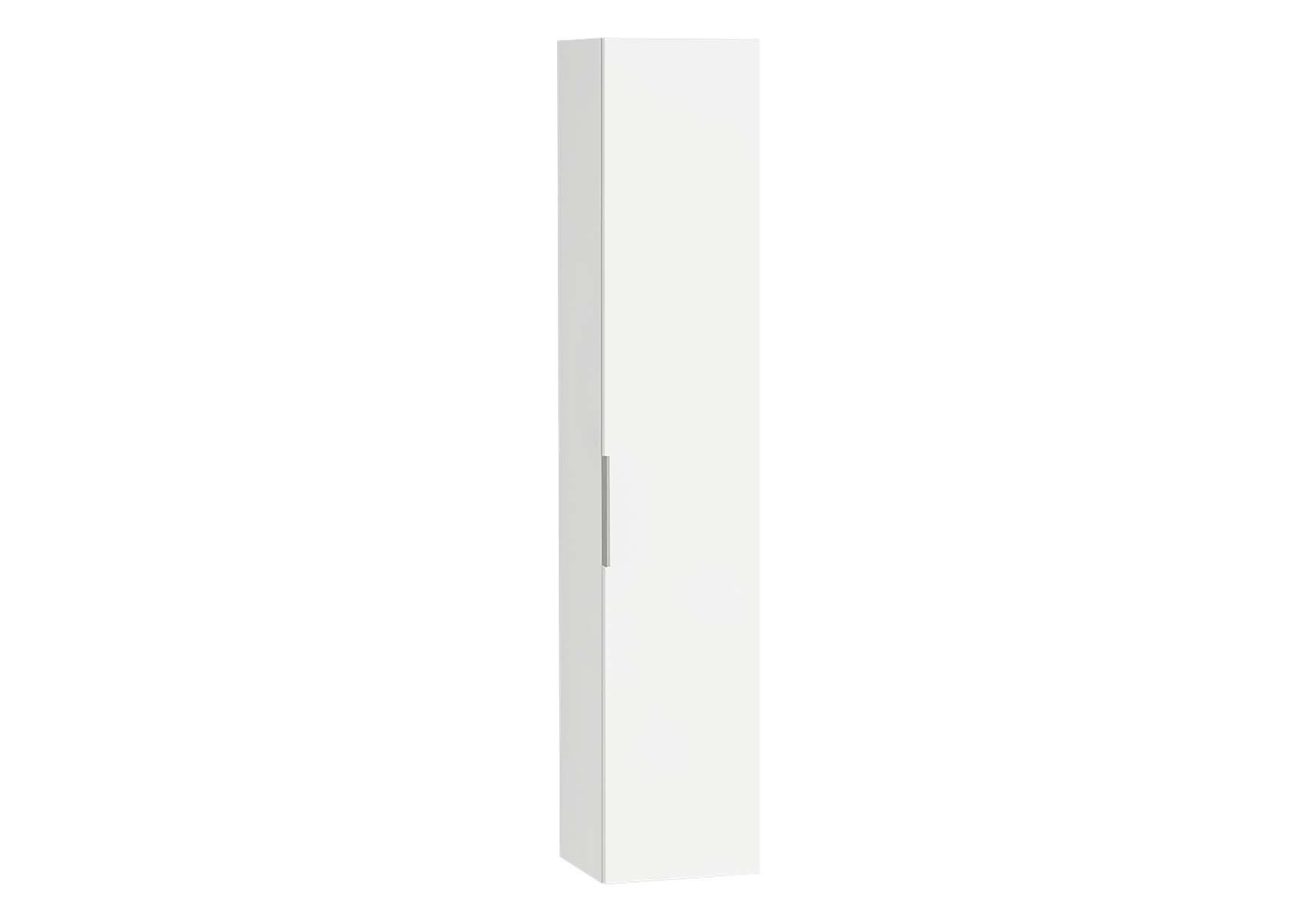 Central Tall Unit, 35 cm, White High Gloss, Right