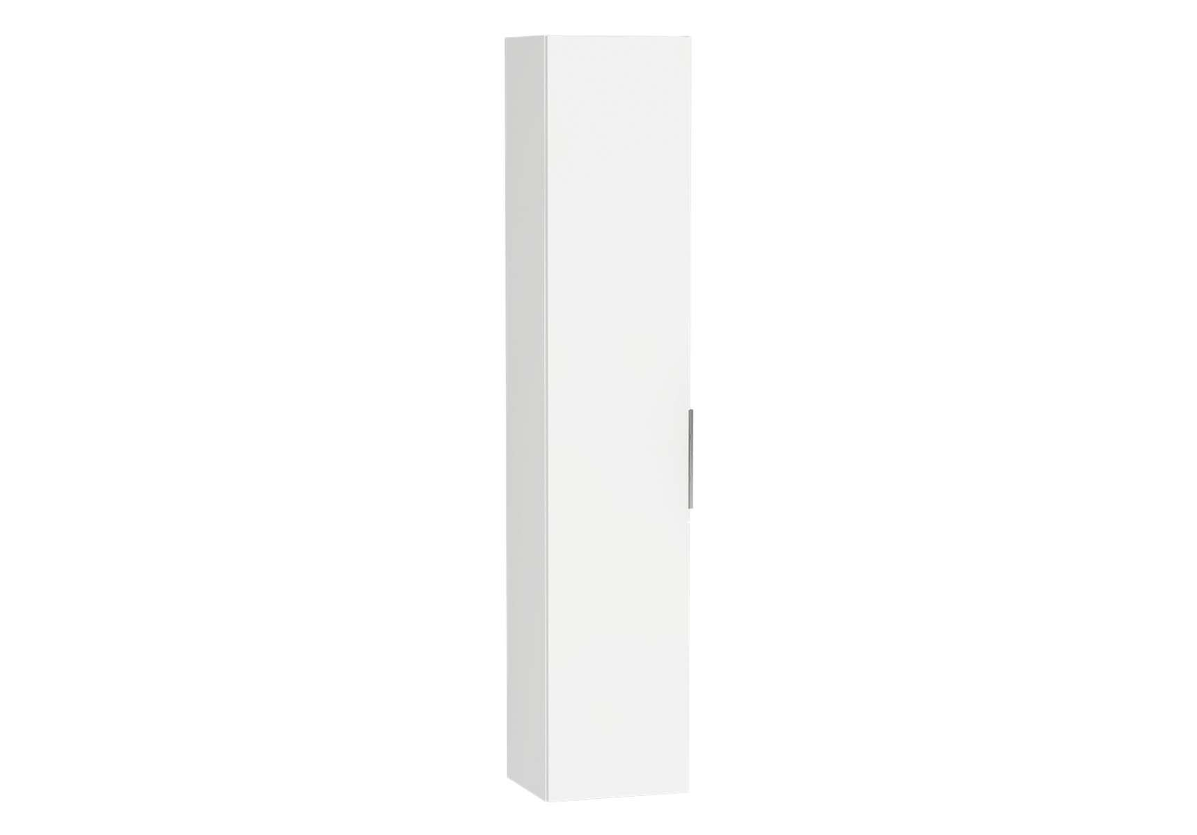 Central Tall Unit, 35 cm, White High Gloss, Left
