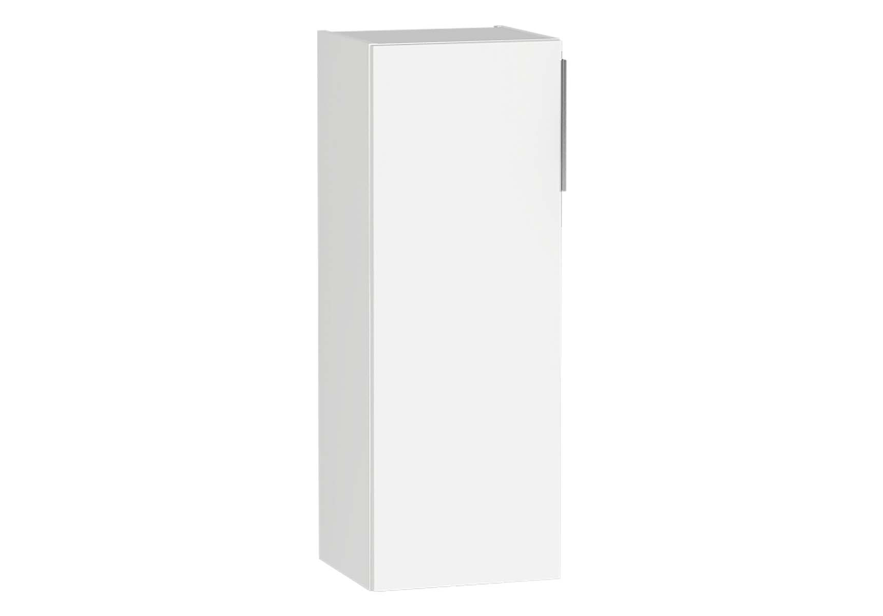 Central Middle Unit, 35 cm, White High Gloss, Left