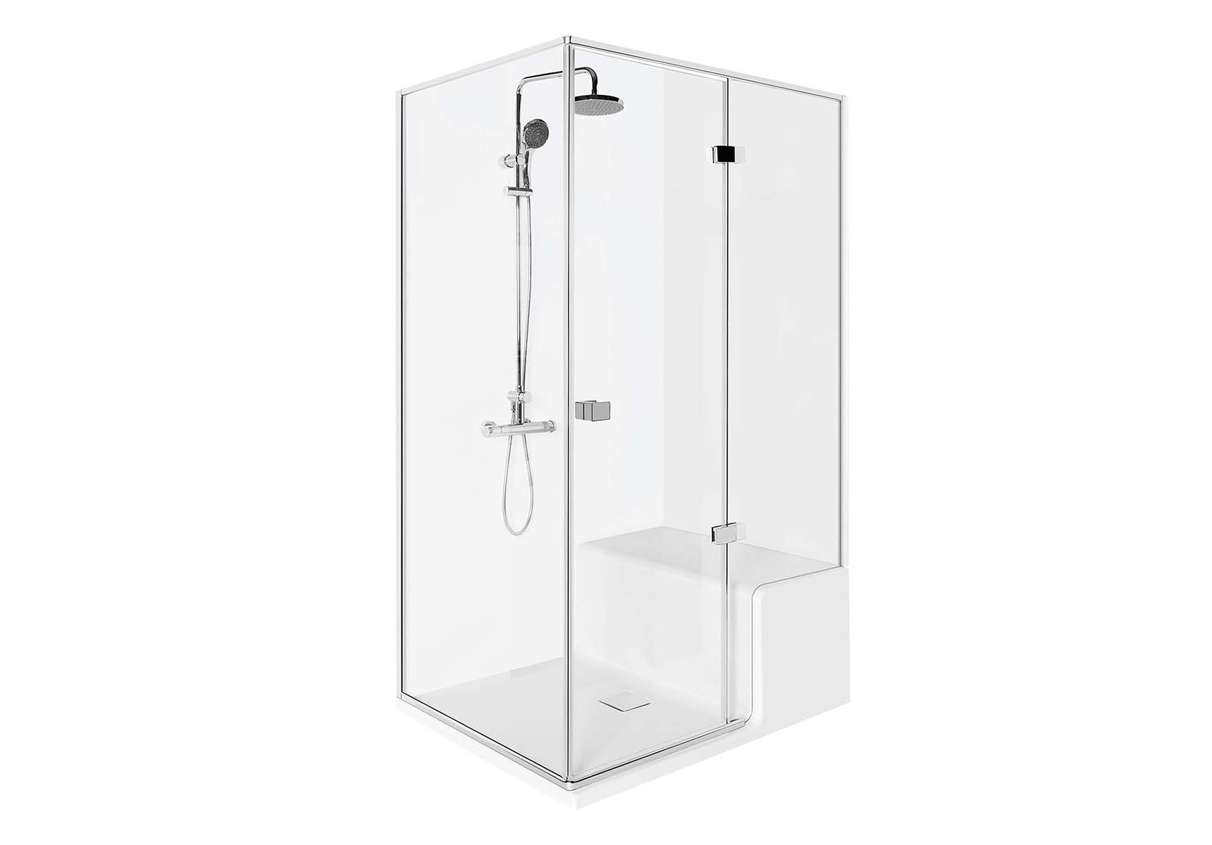 Roomy Shower Unit 120X080 Right, with Legs and Panels