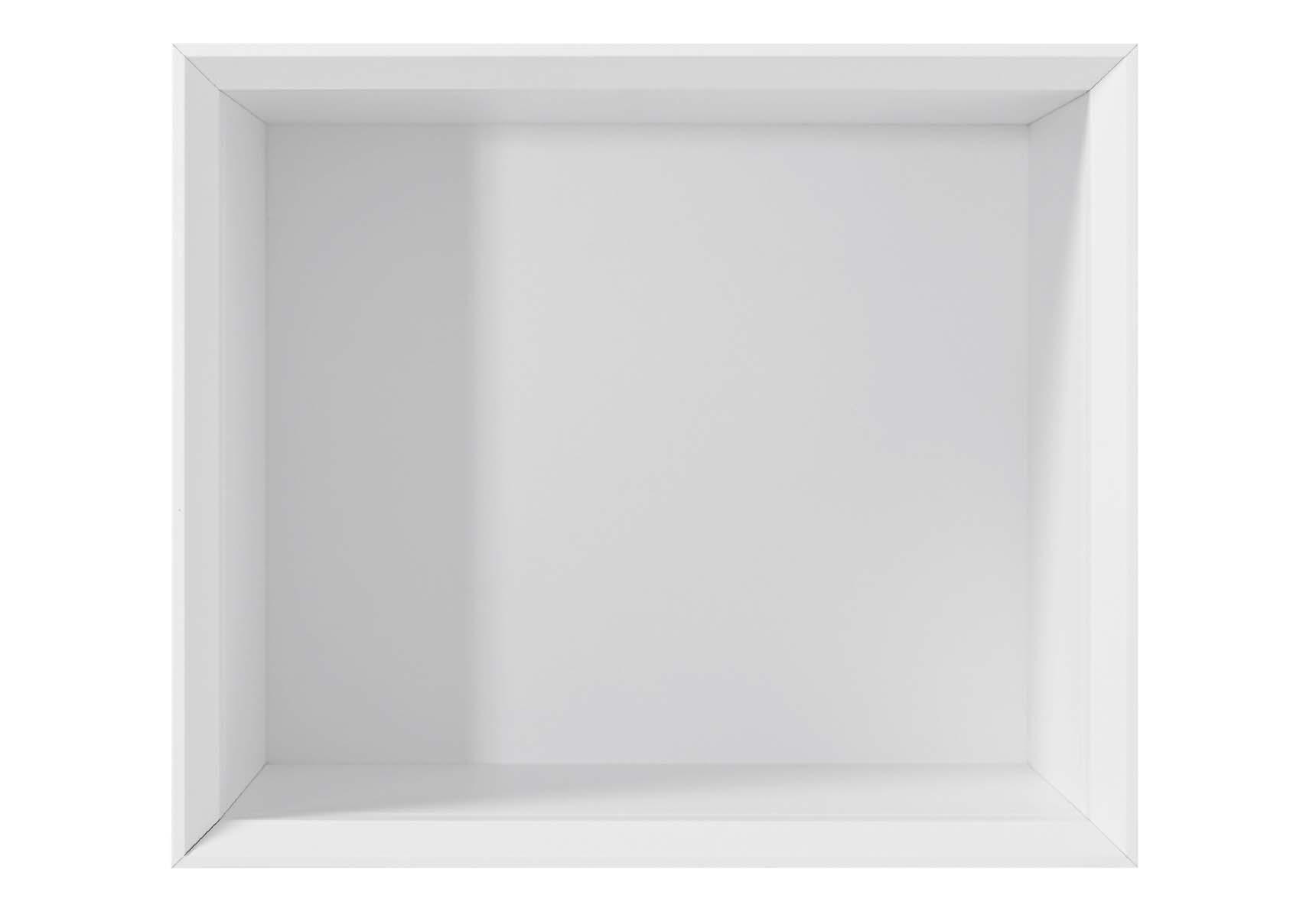 Central Small Box, 35 cm, White High Gloss