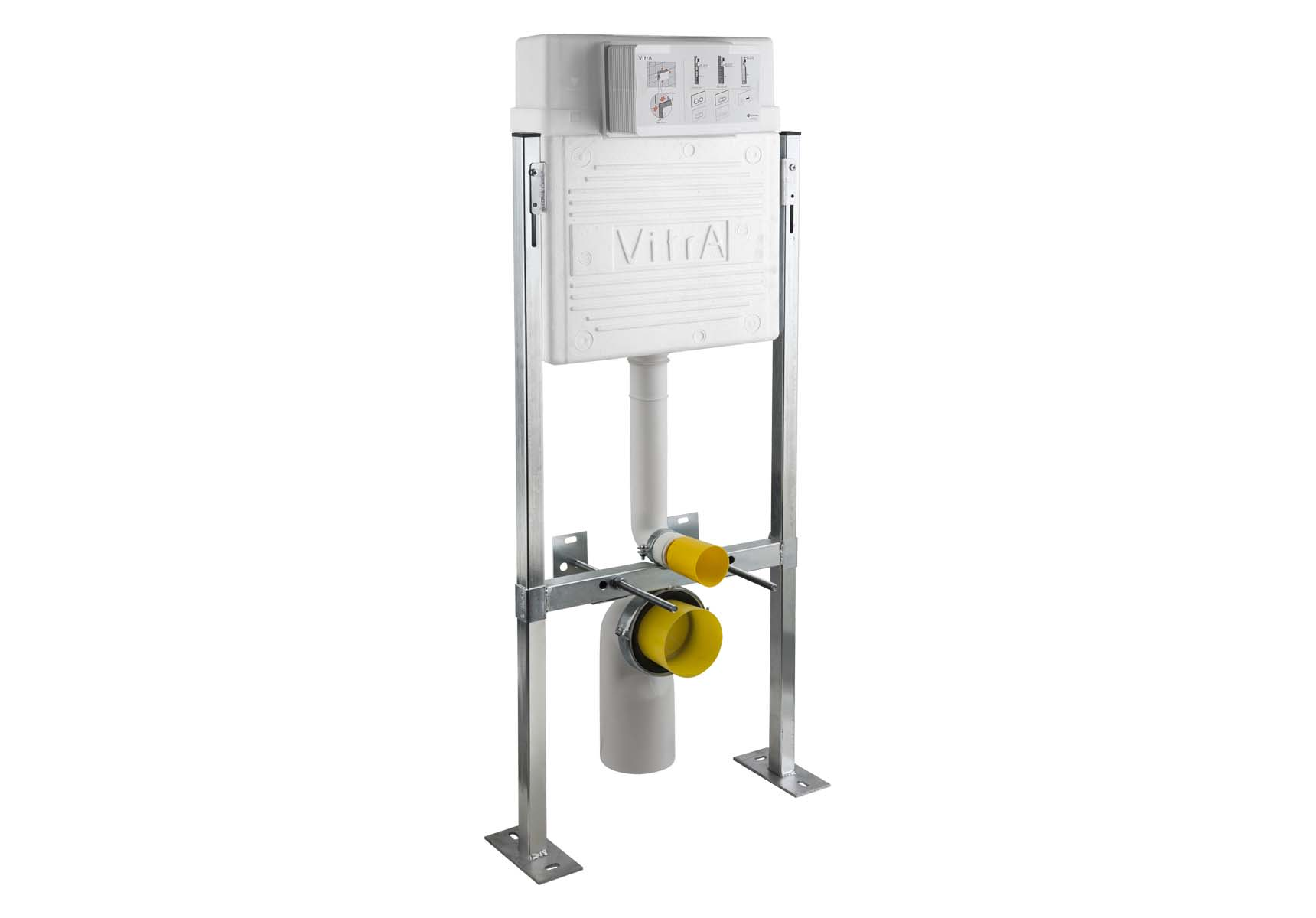 Standard Installation - Set For Wall-Hung Wc Pans Additional Height Adjustment To Locate Bottom Of Control Panel 88 To 98 cm From The Finished Floor