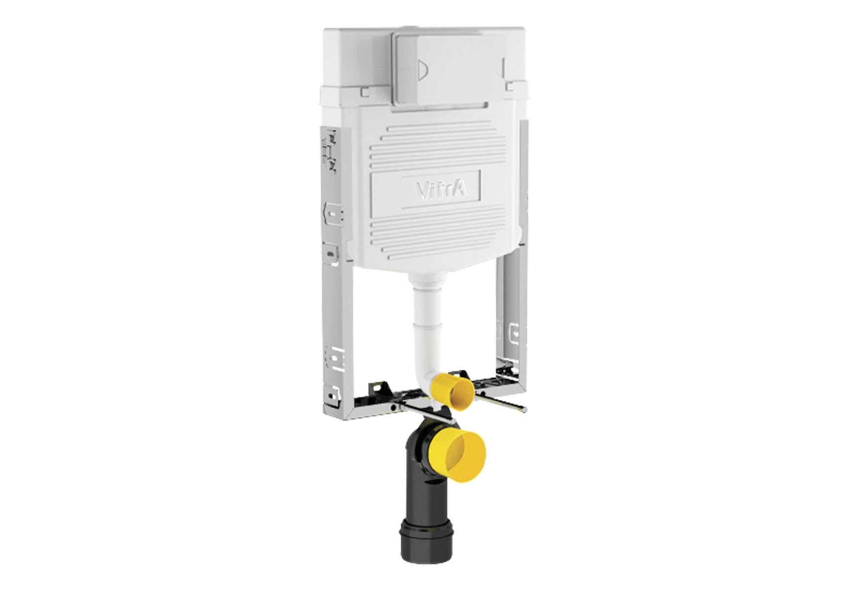 Standard Installation - 2,5 / 4 Liter Concealed Cistern Set (without metal brackets) - 8 cm