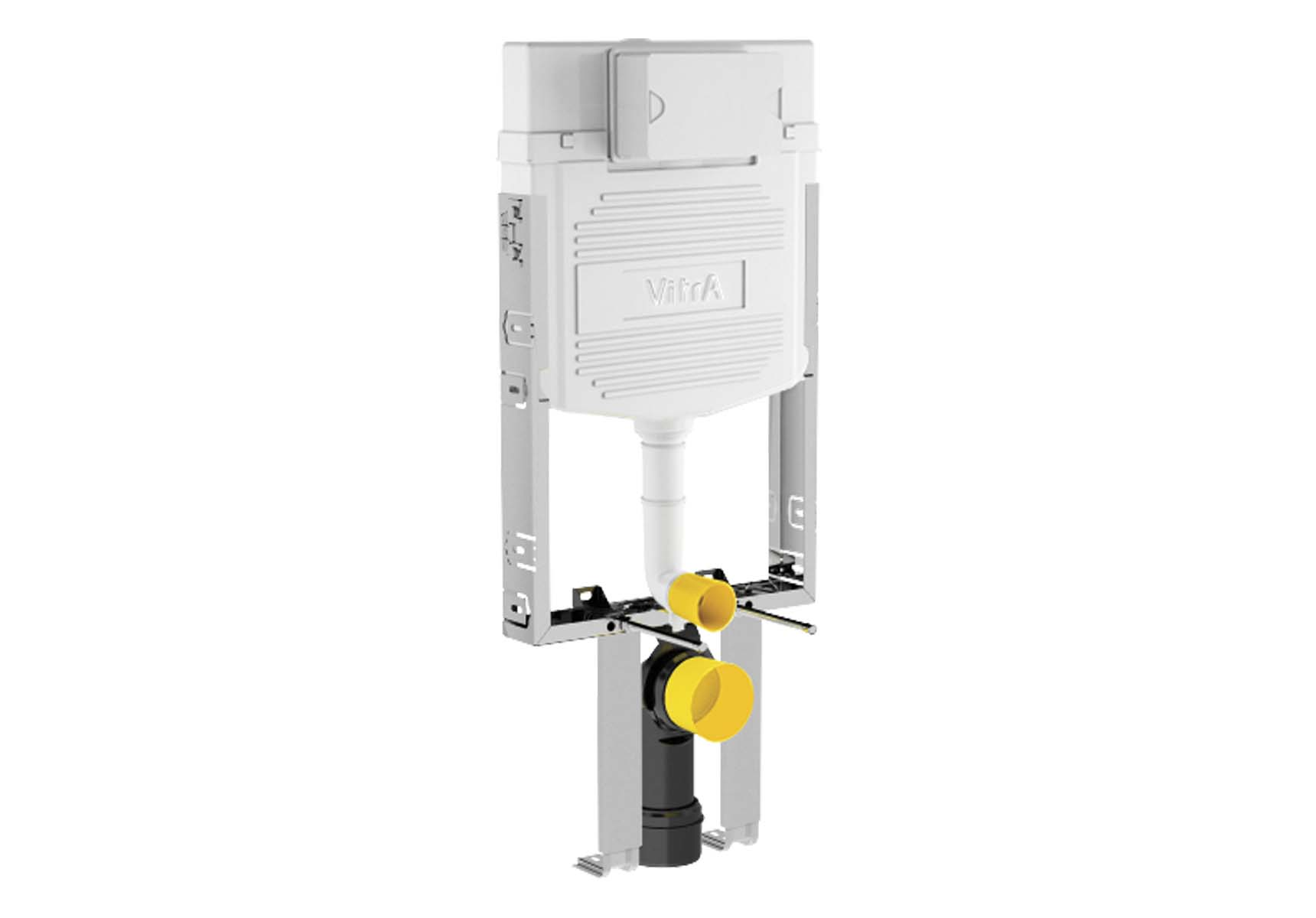 Standard Installation - 2,5 / 4 Liter Concealed Cistern Set (with adjustable thick metal brackets) - 8 cm