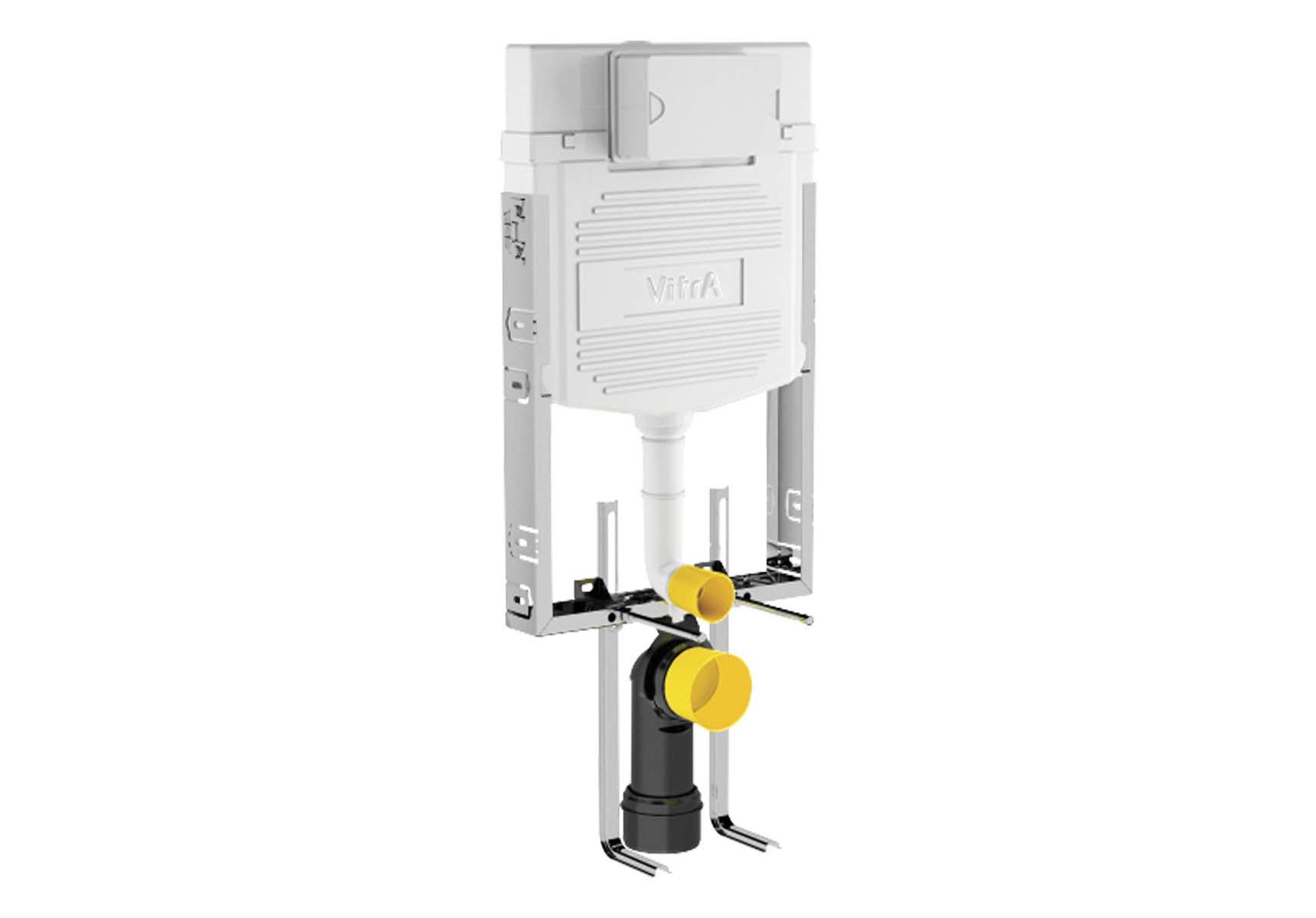Standard Installation - 3/6 Liter Concealed Cistern Set (with adjustable thin metal brackets) - 8 cm