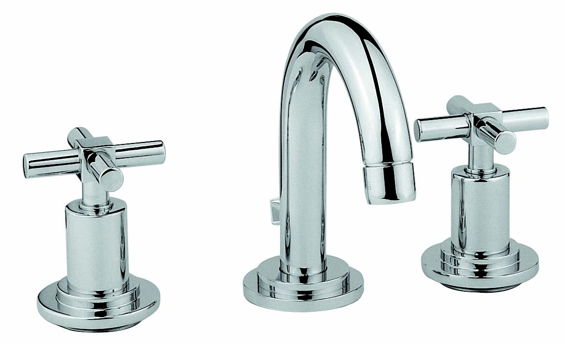 Juno Basin Mixer (For 3-Hole Basins - (with Pop-Up)