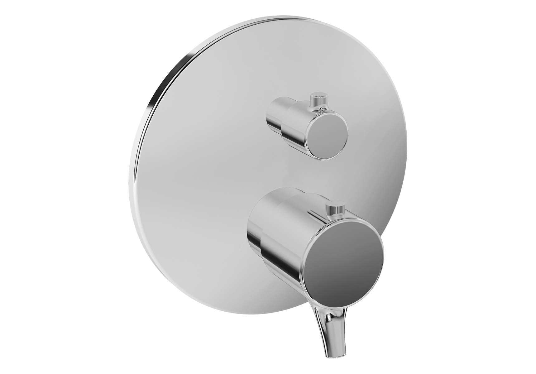 Nest Trendy Built-In Thermostatic Shower Mixer, V-Box-Exposed Part, Chrome