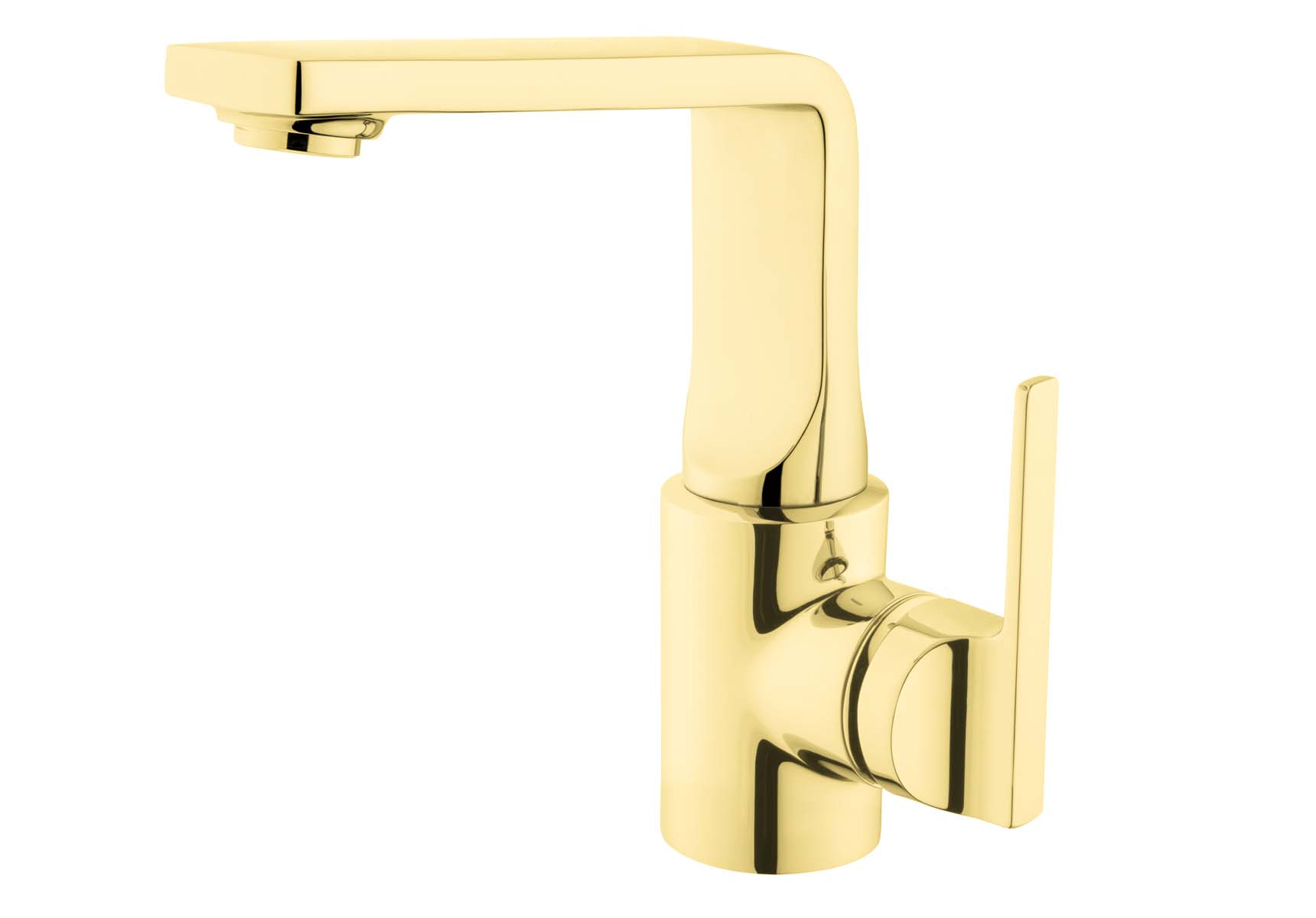 Suit Basin Mixer, With Pop-Up, Gold