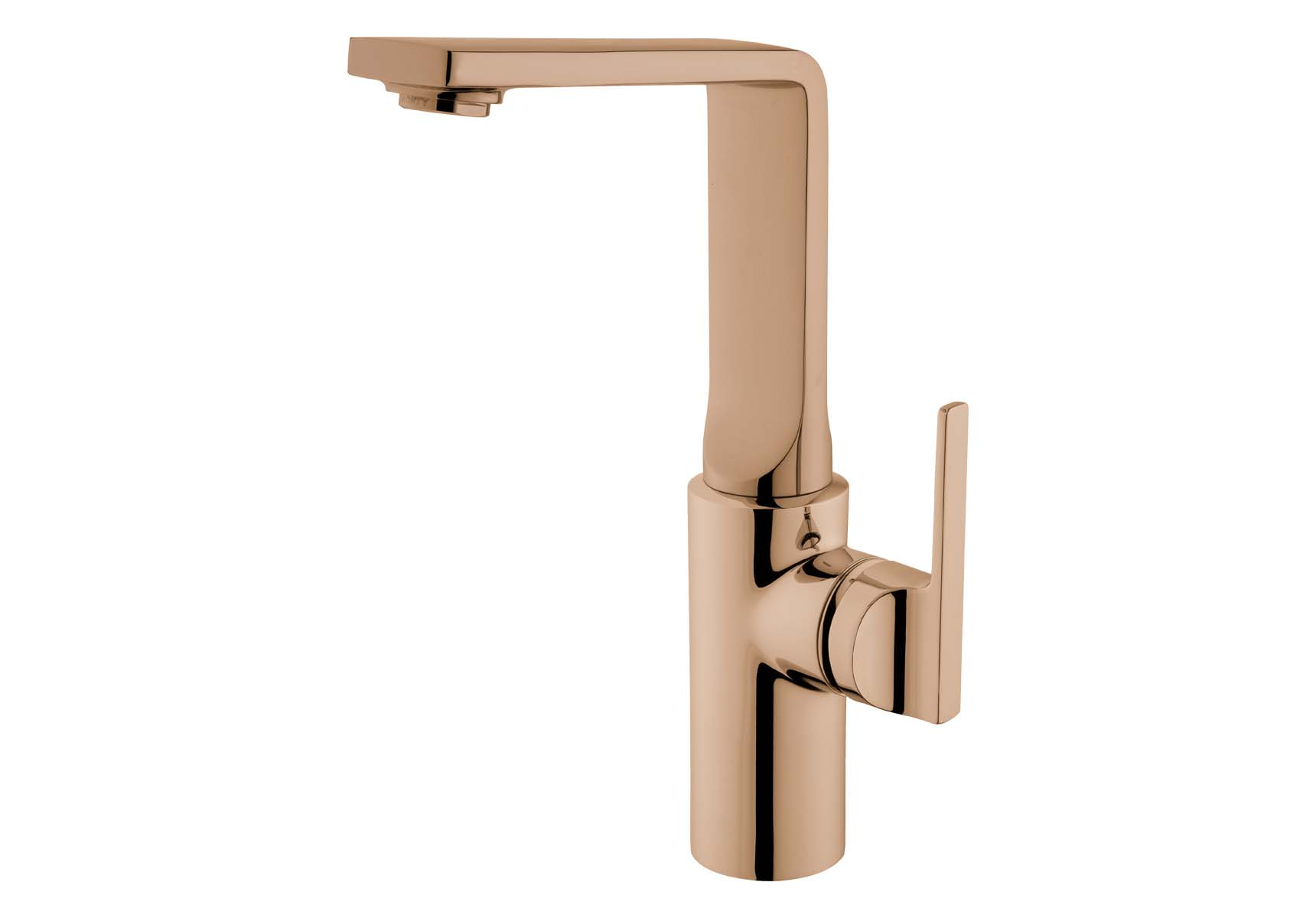 Suit Basin Mixer, With Pop-Up-For Bowls, Copper