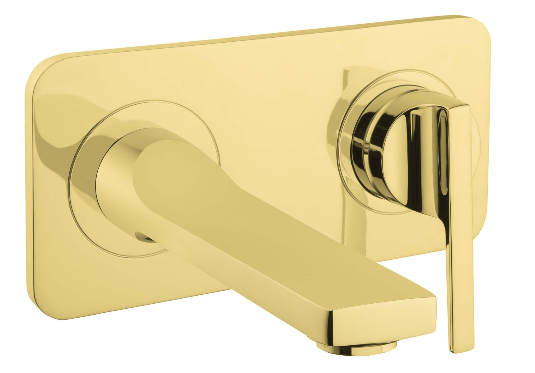 Suit Built-In Basin Mixer, Exposed Part, Gold