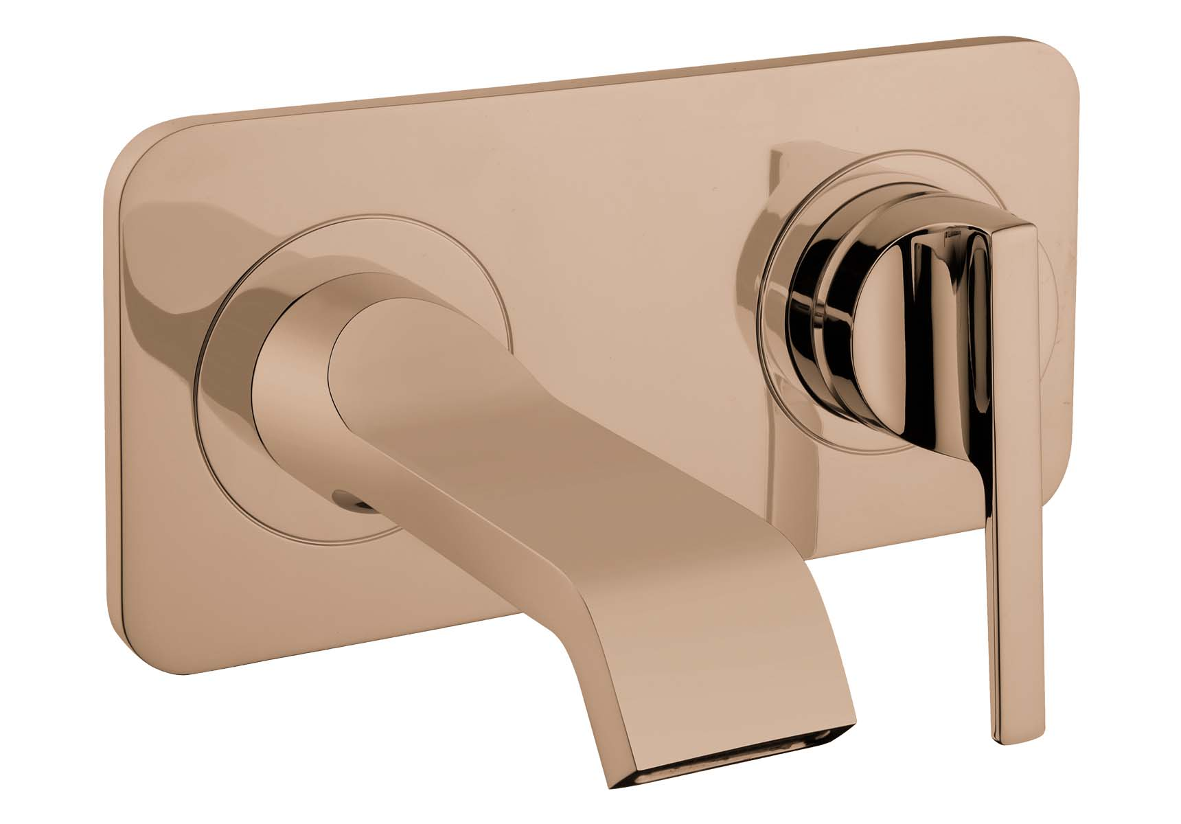 Suit Built-In Basin Mixer, Exposed Part, Copper