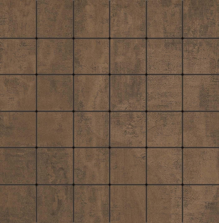 5x5 Metro Tile Dark Brown Matt